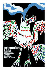 "Cuban movie Poster for film""MERCEDES Sosa""Argentina art.Musical Singing Bird"