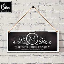 155 Chalkboard Style Family Name Plaque / Shabby Chic Wedding / Sign