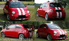 """All Year Fiat 500 500L 500X 6"""" Plain Rally stripes Stripe Graphics Decal decals"""