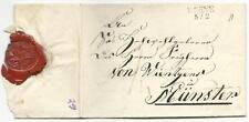 Preussen-Vorphilatelie: Aufgabestempel Werne auf Brief von 1829 mit Lacksiegel!