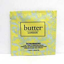 Butter London Scrubbers 2-in 1 prep&remover wipes QTY 5 PADS