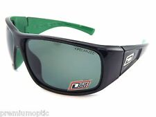 DIRTY DOG Polarised ULTRA Wrap Sunglasses Black - Green Inner / Green  53300