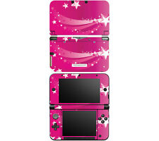 Vinyl Skin Decal Cover for Nintendo 3DS XL LL - Pink Shooting Stars