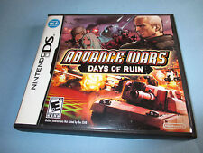 Advance Wars Days of Ruin (Nintendo DS) Lite DSi XL 3DS 2DS w/Case & Manual