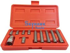 "11-pc. 12 Point SPLINE SOCKET Bit Set 1/2"" DR 10MM Bit Adaptor M5 M6 M8 M10 M12"