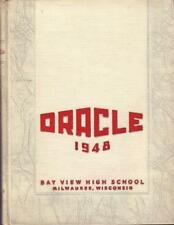 1948 BAY VIEW HIGH SCHOOL YEARBOOK/ANNUAL MILWAUKEE WI FREE SHIP VERY GOOD COND