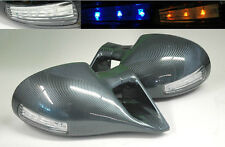 Ford Mustang 94-98 M3 Carbon Fiber LED Front Power Door Side Mirrors Pair