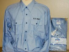US Navy Long Sleeve Chambray Work Shirt - New - Medium