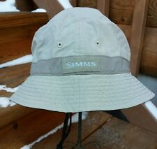 Simms Fishing Sun Hat Brimmed Drawstring Outdoors Boonie Cap Inner Stash Pouch M