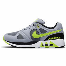 Nike Air Stab Mens 312451-003 Grey Volt Running Shoes Athletic Sneakers Size 8