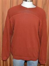 Tommy Bahama BRICK RED 100% COTTON KNIT PULLOVER VINTAGE TB SWEATER MENS LARGE