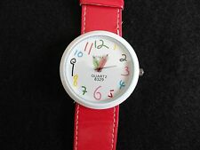 "New ""Crayons"" Quartz Ladies Watch with a Big Red Band"