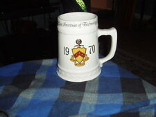 "Vintage 1970 CASE INSTITUTE OF TECHNOLOGY Ceramic Mug Stein Collector ""Ruthi"" VG"