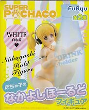 Pochaco Bottle Hold Figure White Ver. anime Super Sonico FuRyu official