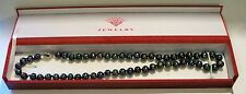 BLACK TAHITIAN PEARL NECKLACE *  17 INCH  * WORK GREAT ON WRIST ALSO