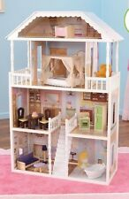 Kids Large Deluxe Doll House w/ Furniture Barbie Childrens Pretend Play 3-8 Yrs