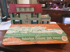 MARX Vintage Large 2 Story Tin Metal Litho Doll House With Original Box.