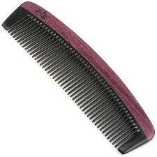 Evolatree - Handcrafted Comb - Fine Tooth - Purpleheart Wood & Ox Horn - 6""