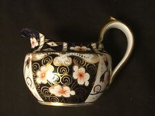 ROYAL CROWN DERBY TRADITIONAL IMARI CREAMER GOLD BLUE RED ENGLAND 2451