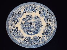 "1 (One) THE GEORGIAN COLLECTION CHURCHILL 10"" Dinner Plate England Blue & White"