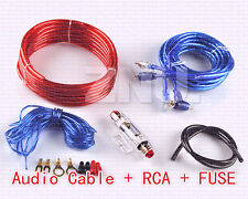 1500W 8 GA Car Audio Subwoofer Amplifier AMP RCA Wiring Kit Cable AGU FUSE NEW