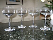 WEDGWOOD CRYSTAL WINE GLASSES x4 EX.CON LOVELY