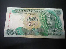 MALAYSIA 6TH $5 WITH CROSS NQ2599313 VF