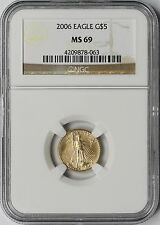 2006 Gold Eagle $5 Tenth-Ounce MS 69 NGC 1/10 oz Fine Gold