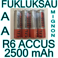 16 x PILES AA | PILES ACCUS RECHARGEABLE MIGNON 2500mAh Ni-MH 1,2V R6 LR06 NEW