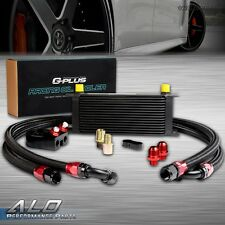 UK 16 Row 10AN Universal Engine Transmition Oil Cooler + Filter Relocation Kit