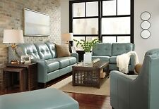 "Ashley ""O'Kean"" Leather Sky Sofa and Loveseat Furniture 59103"