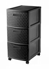 Sundis Tower Country 4481080080, Storage container on wheels with 3 drawers in