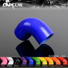 "2.5"" 63MM 2 1/2"" 90 Degree Hose Turbo Silicone Elbows Coupler Pipe Hose blue"