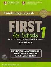 Cambridge FIRST FOR SCHOOLS FCE 1 w Answers +Audio CDs for Exam from 2015 @NEW@