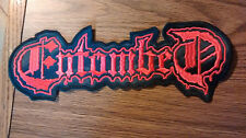 ENTOMBED,SEW ON RED EMBROIDERED LARGE BACK PATCH