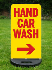 HAND CAR WASH PAVEMENT SIGN VALETING SIGN A BOARD  WITH FREE DESIGN & PRINT