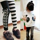 Fashion Cute Kids Clothing Girls Classical Black White Design Leggings Ages3-8Y