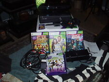 XBOX 360 KINECT Console W/ 1 Wireless Controller + 4 Games CLEAN WORKS GREAT !