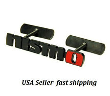 Bolt on 3D Metal Black Red NISMO Front Emblem Badge For Grille Billet