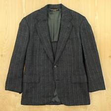 BROOKS BROTHERS tweed blazer jacket size 38 gray herringbone weird cuffs