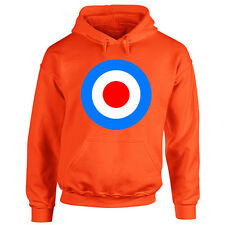 Adults Mod Target Hoodie - British Music Scene Hooded Top - 60's Subculture