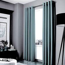 "100% Blackout Panels Heavy Thick Grommet Bay Window Curtain 1 Set Slate Blue 84"""