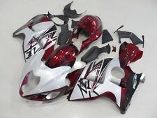 Metallic Red w/ Silver Injection Fairing for 1999-2007 Suzuki GSXR 1300 Hayabusa