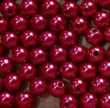 200 Perlen perlmutt rot Hochzeit Wachsperlen 10mm Perle Dekoperlen