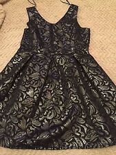 One Love Clothing Los Angeles Black Silver Shimmer Sparkle Party Dress  MEDIUM