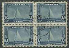 CANADA #216 USED BLOCK OF 4 VF