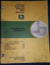John Deere Schlepper 8100 , 8200 , 8300 , 8400 Reparatur Handbuch