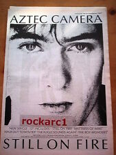AZTEC CAMERA Still On Fire 1984 UK Poster size Press ADVERT 16x12""
