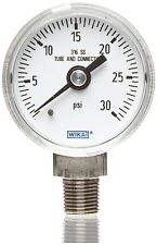 "WIKA Industrial Pressure Gauge - 2"" Dial - 30 PSI Range - Part # 9118063 - NEW"