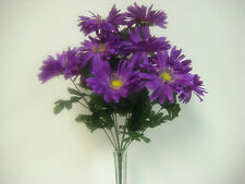 LAVENDER Gerbera Daisy Bush Artificial Silk Flowers Bouquet 12 586LV